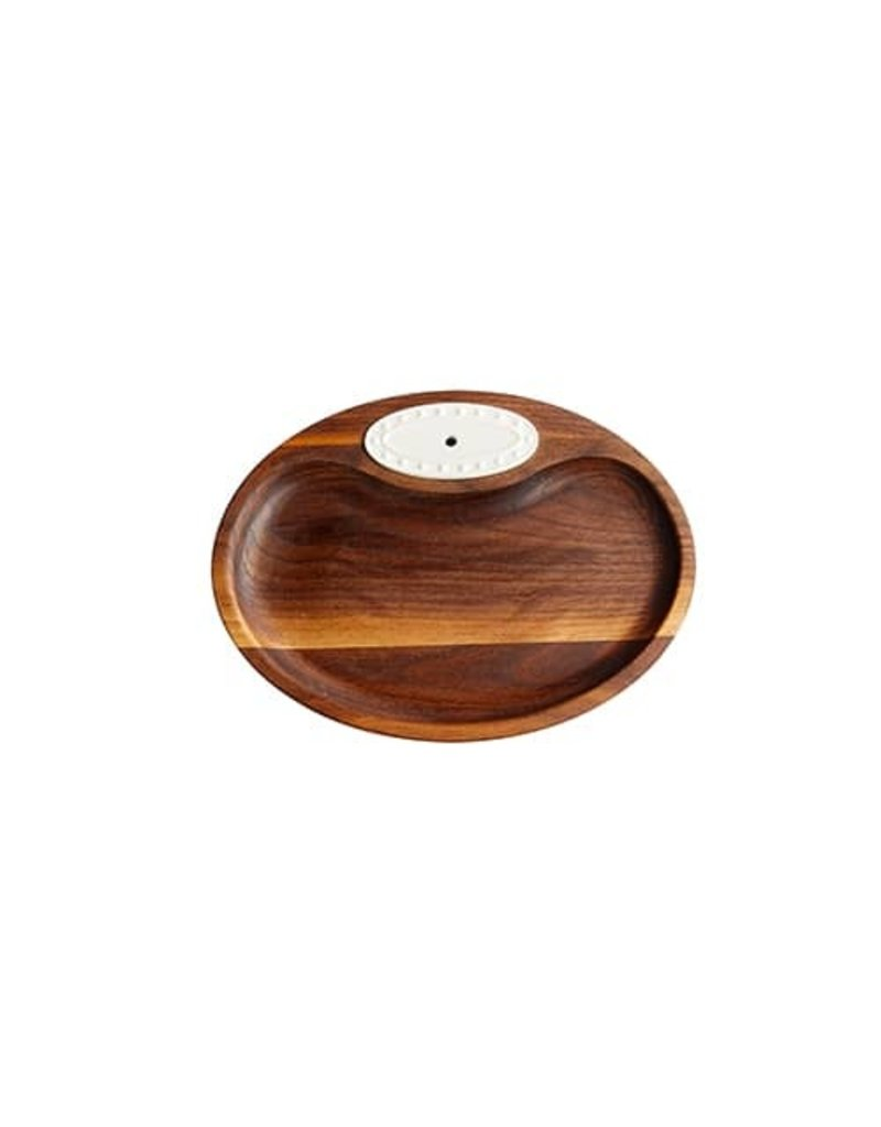 Nora Fleming N4 Walnut Tidbit Tray