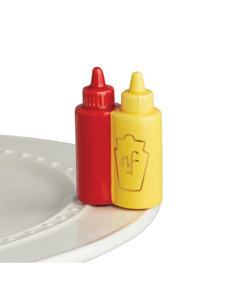 Nora Fleming A230 Ketchup & Mustard