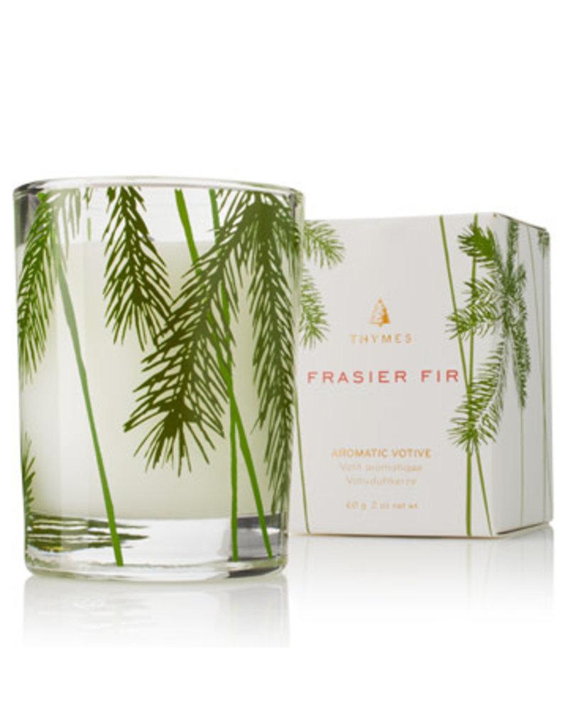 FFr Votive Candle, Pine Needle Design