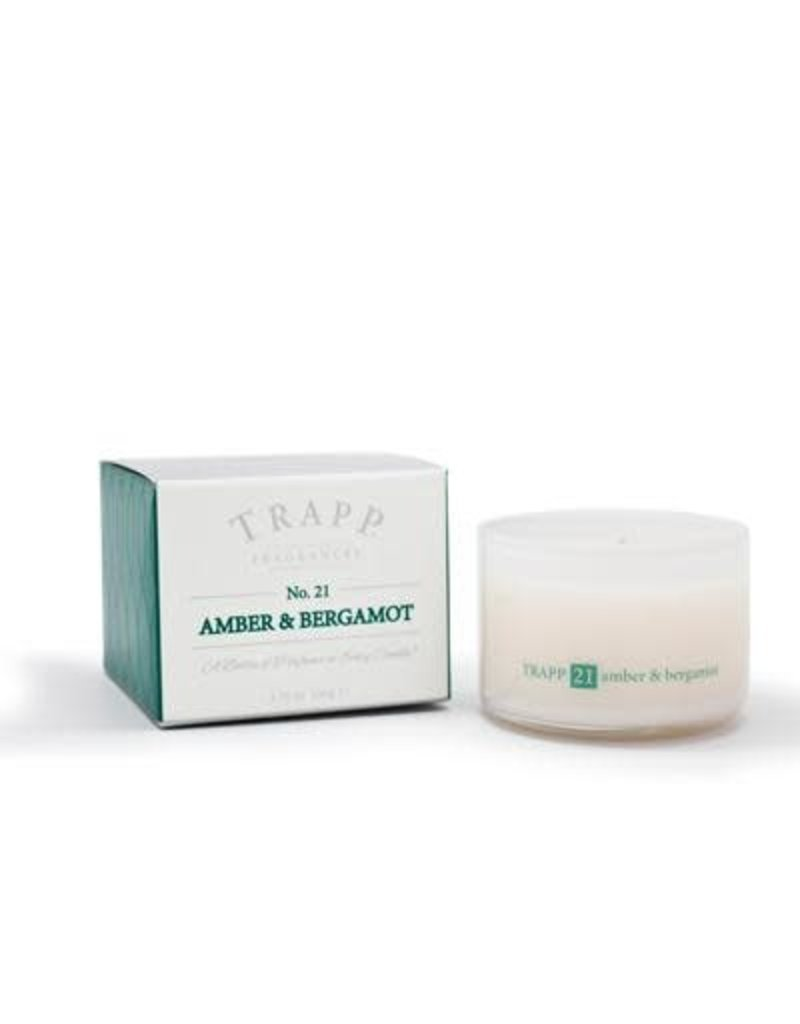 Trapp Fragrances #21 Amber & Bergamot 3.75oz Candle