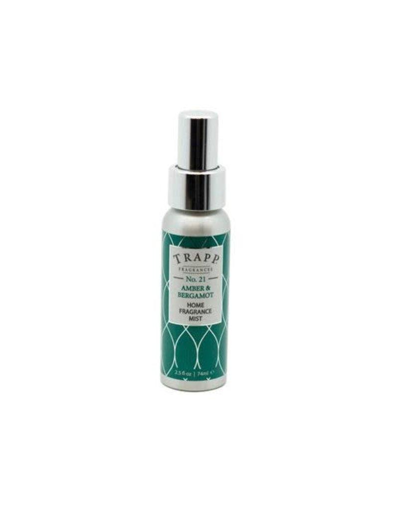 Trapp Fragrances #21 Amber & Bergamot 2.5oz Home Fragrance Mist