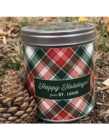 Aunt Sadies Merry Plaid-Happy Holidays From St. Louis-Pine