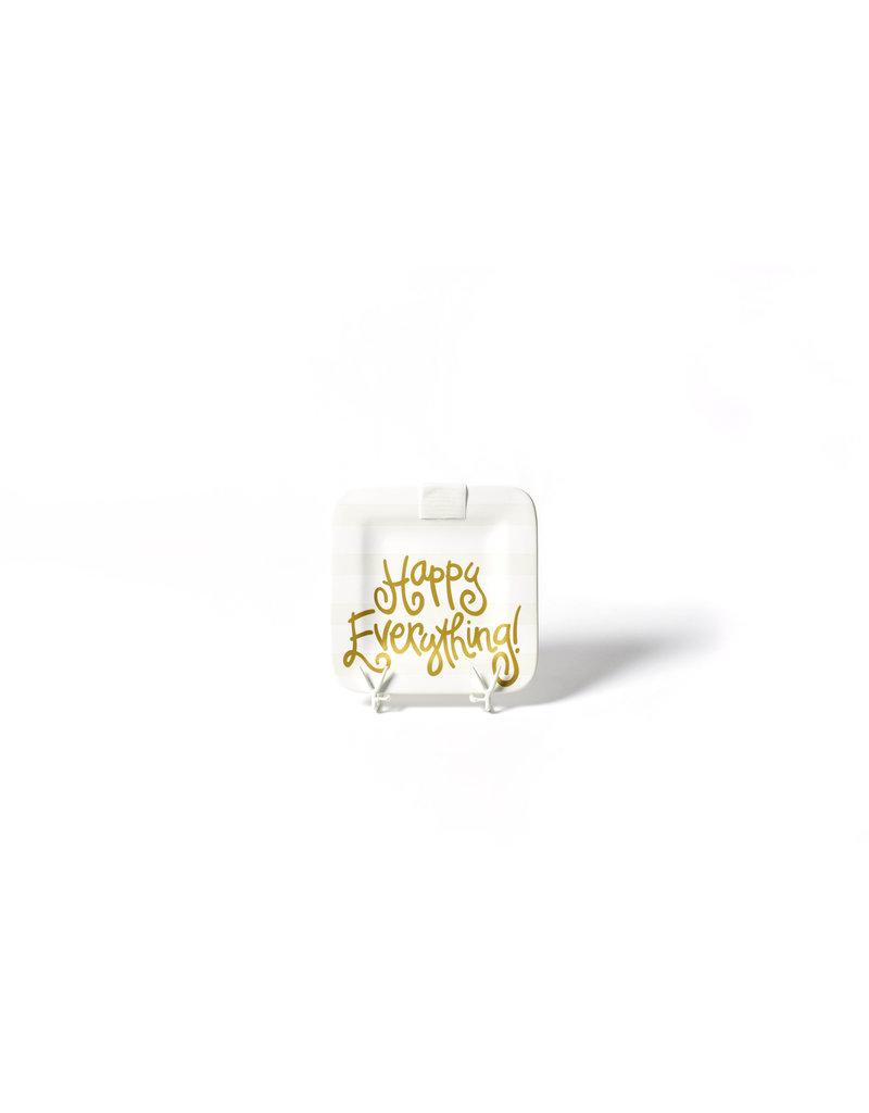 White Stripe Happy Everything 9.25 Mini Platter