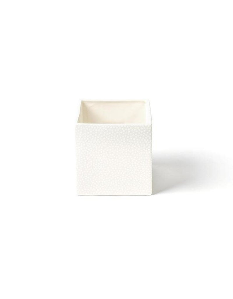 White Small Dot Mini Nesting Cube Medium