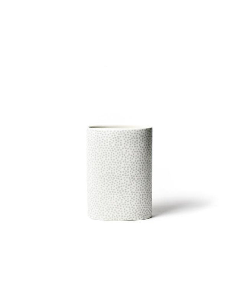 White Small Dot Mini Oval Vase