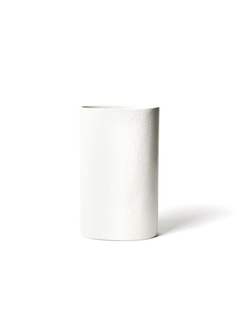 White Small Dot Big Oval Vase