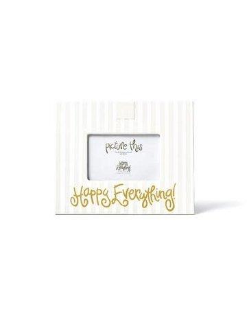 """White Stripe """"Happy Everything"""" Mini Frame"""