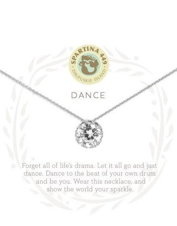 """SLV Necklace 18"""" Dance/Gem SIL"""