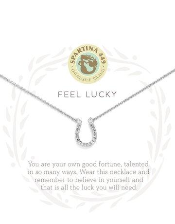 "SLV Necklace 18"" Feel Lucky/Horseshoe SIL"