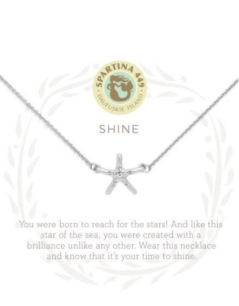 "SLV Necklace 18"" Shine/Starfish SIL"