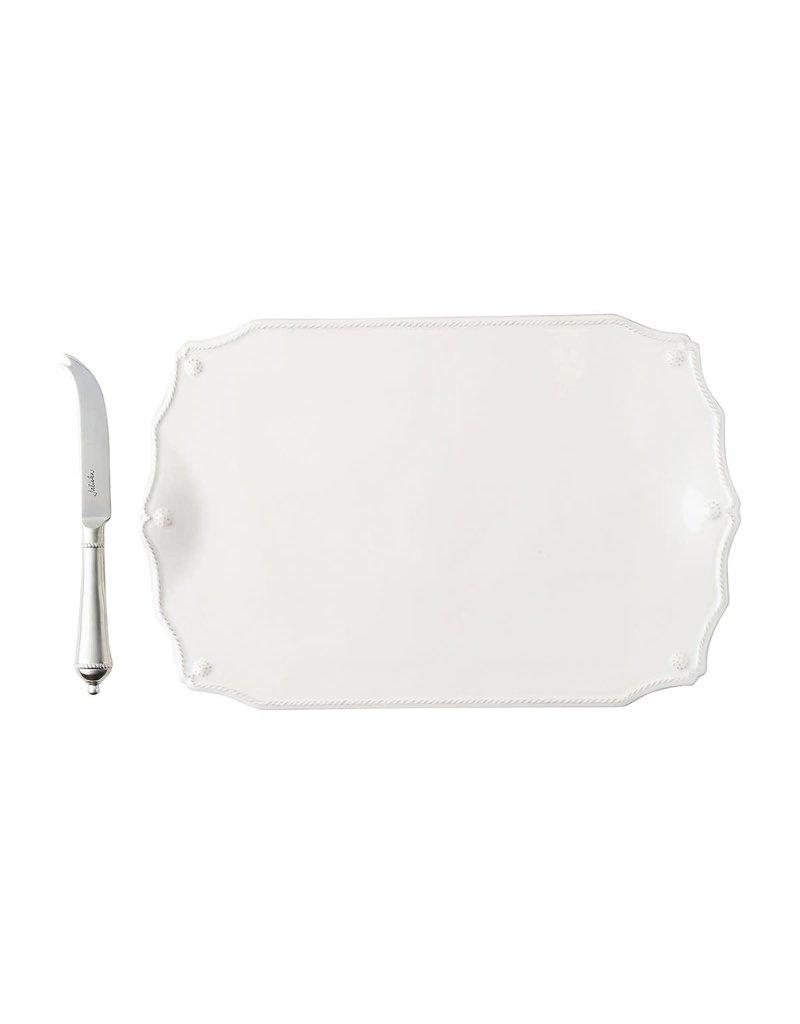 "Juliska JA122SET/W Berry & Thread Whitewash 15"" Serving Board With Knife"