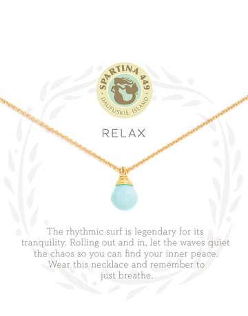 """SLV  Necklace 18"""" Relax/Water Drop"""