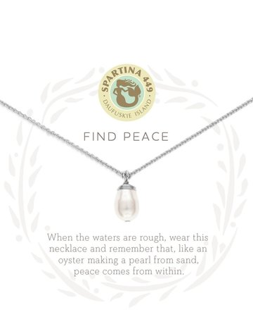 """SLV Necklace 18"""" Find Peace"""