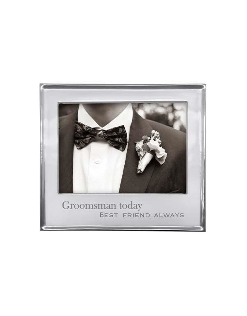 4400GR Groomsmen Today Best Friend Always Signature 4x6 Frame