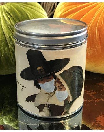 Aunt Sadies Pilgrim Couple with Mask