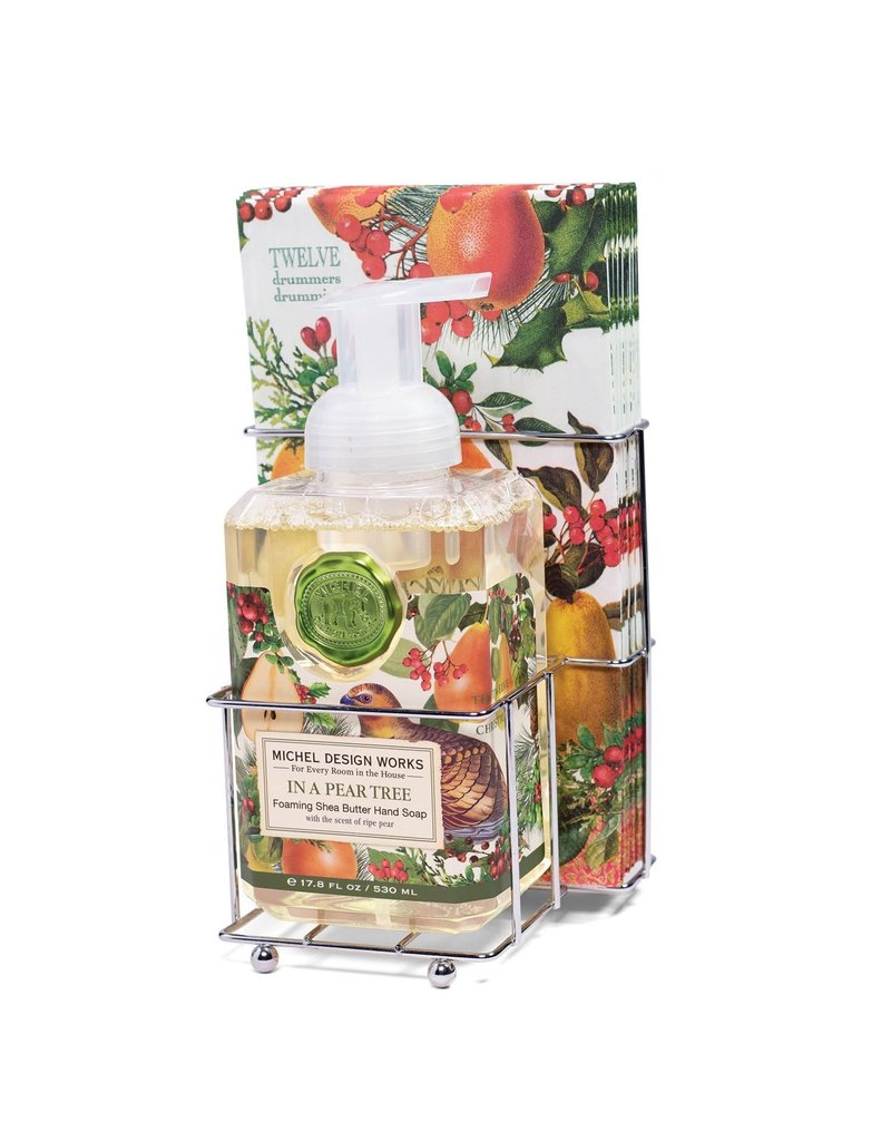 Michel Design Works In A Pear Tree Foaming Soap And Hostess Napkin Holder