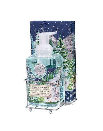 Michel Design Works Christmas Snow Foaming Soap And Hostess Napkin Holder
