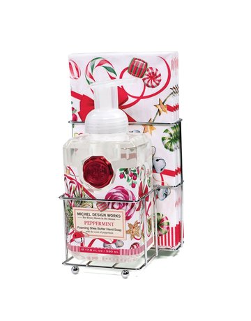 Michel Design Works Peppermint Foaming Soap And Hostess Napkin Holder