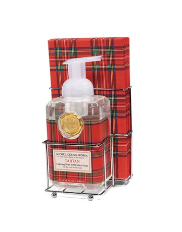 Michel Design Works Tartan Foaming Soap And Hostess Napkin Holder