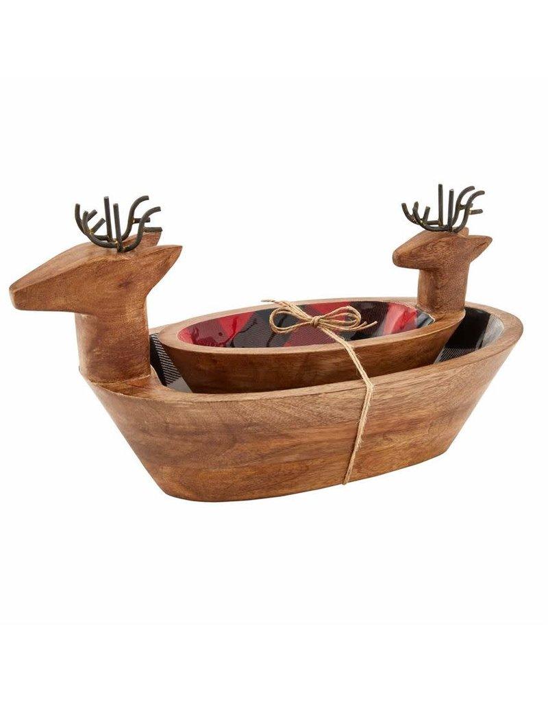 Mud Pie Deer Enamel Snack Bowl Set