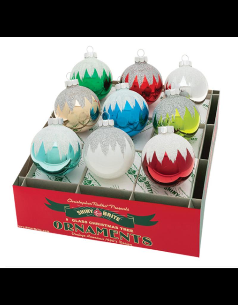 "Holiday Splendor 9 Count 2.5"" Snowcap Rounds"
