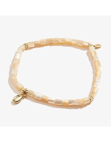 Puka Shell Stretch Anklet, SG