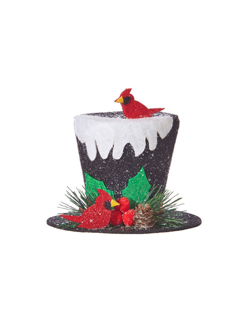 """5"""" Top Hat With Snow Ornament"""