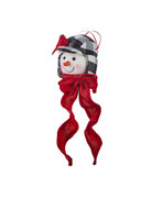 "7"" Snowman Head Ornament"