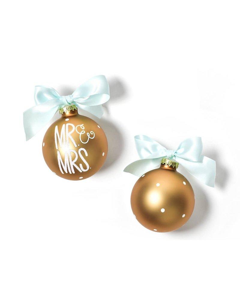Mr. & Mrs Glass Ornament
