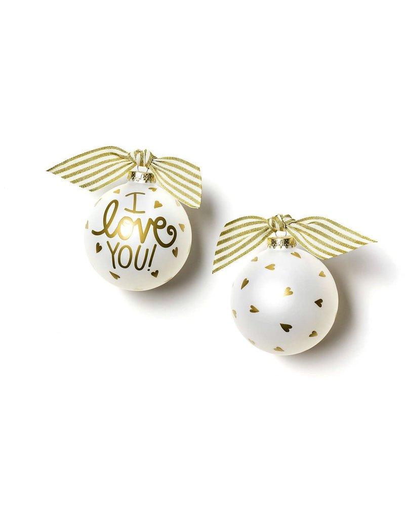 I love You Glass Ornament