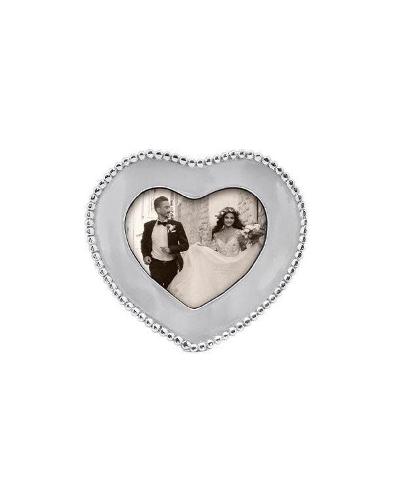 1453 Beaded 4x6 Heart Frame