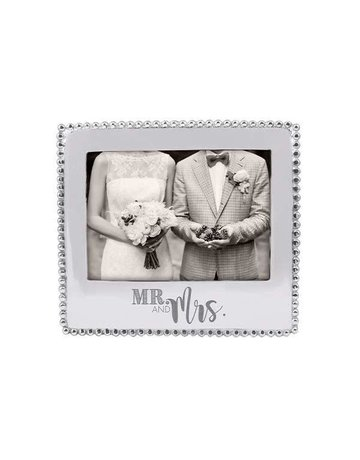 3911MRM Mr.& Mrs.Beaded 5x7 Frame