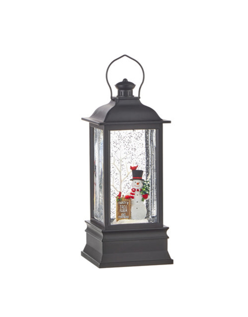 "8.75"" Frosty's Tree Farm Musical Lighted Water Lantern"