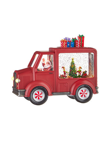 Santa And Elves Lighted Water Truck