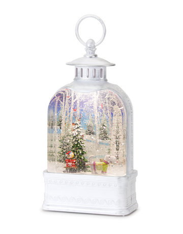 "Snow Globe Television w/Dog 10.5""H Plastic 6 Hr Timer 3 AA Batteries, Not Included or USB Cord Included"
