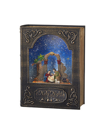 "8.5"" Holy Night Musical Lighted Water Book"