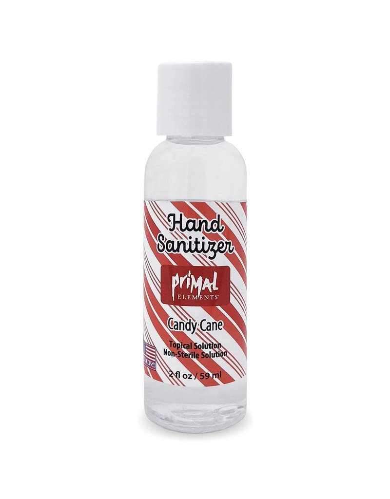 Primal Elements Candy Cane Hand Sanitizer 2oz