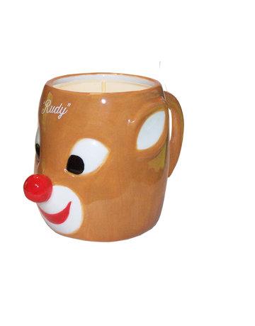 Aunt Sadies Rudolph Ceramic Mug Candle