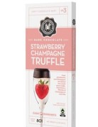 Dark Chocolate Strawberries & Champagne Truffle Bar #3 3oz