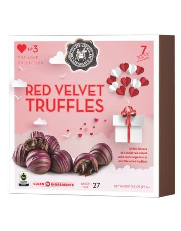Red Velvet Truffles 7pc. Box