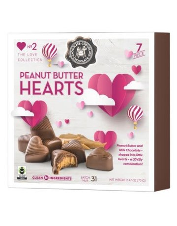 Peanut Butter Heart Milk Choc. 7pc. Box Set