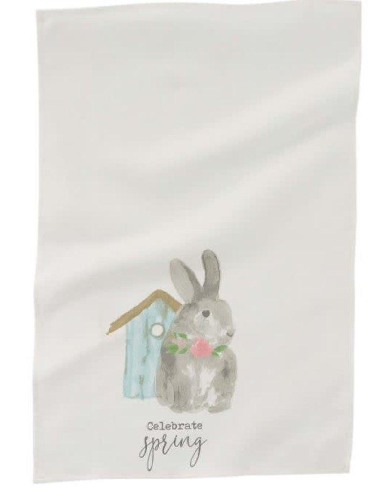 Mud Pie Bunny Birdhouse Towel