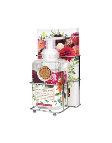 Michel Design Works Sweet Floral Melody Foaming Soap And Hostess Napkin Holder