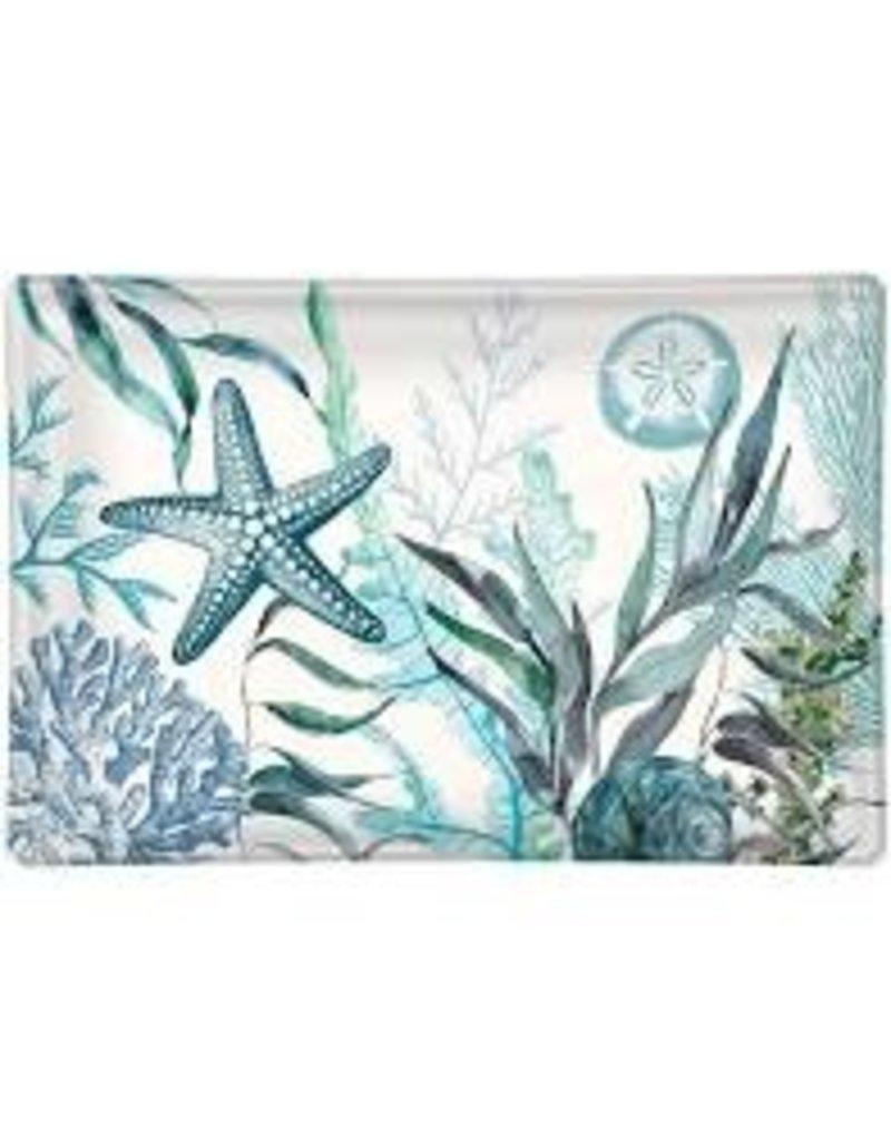 Michel Design Works Ocean Tide Rectangular Glass Soap Dish