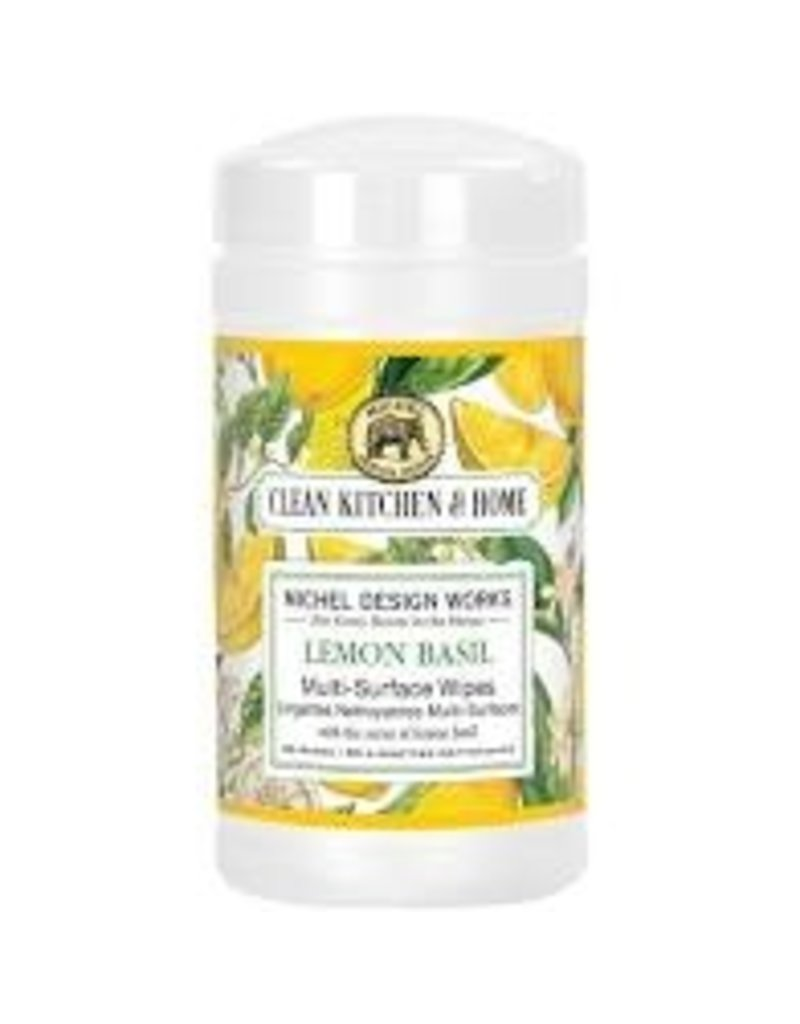 Michel Design Works Lemon Basil Multi Surface Wipes