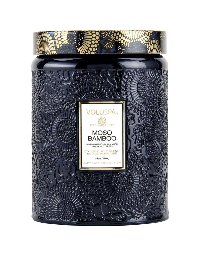 Moso Bamboo Large Glass Jar Candle