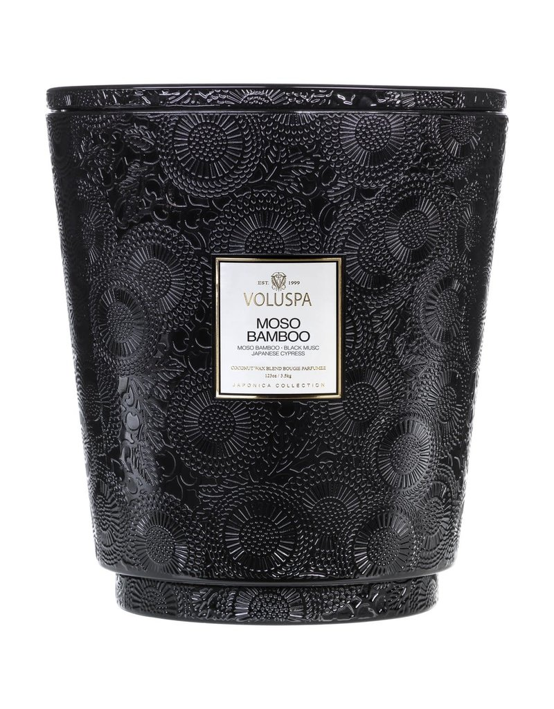 Moso Bamboo 123oz Hearth Candle w/ Lid