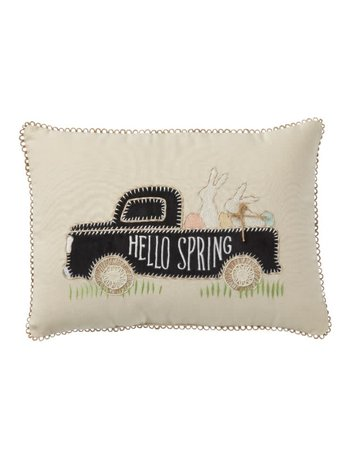 Mud Pie Bunnies in a Truck Pillow