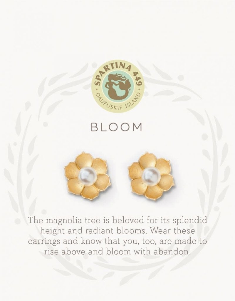 SLV Stud Earrings Bloom/Magnolia Flower