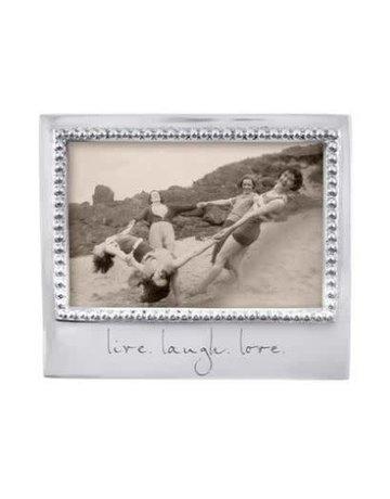3906LL Live, Laugh, Love Beaded 4x6 Frame